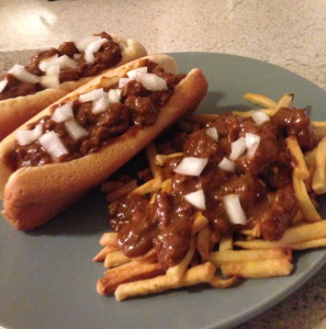 Fries Chili Dogs